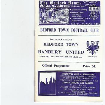 Bedford Town v Banbury United 1967/68