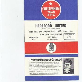 Cheltenham Town Home Football Programmes