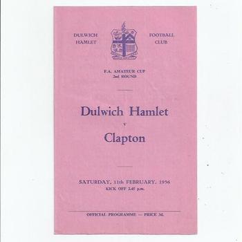 Dulwich Hamlet v Clapton 1955/56 FA Amateur Cup