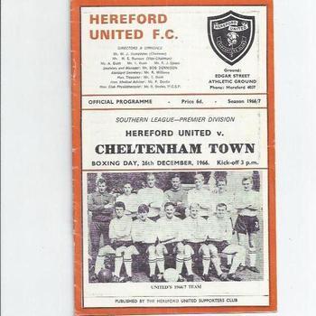 Cheltenham Town Away Football Programmes