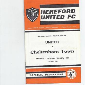 Hereford United Home Football Programmes
