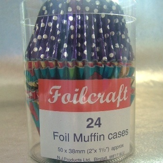 24 Polka Dots Foil Muffin Baking Cases