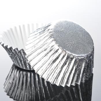 64 Silver Foil Muffin Cases