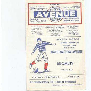 Non-League 1950s & 60s Football Programmes
