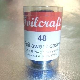 48 Royal Blue Foil Baking Cases