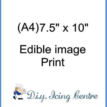 """(A4) 7.5"""" X 10"""" Edible print"""