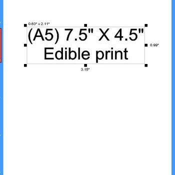 """(A5) 7.5"""" X 4.5"""" Edible Print"""