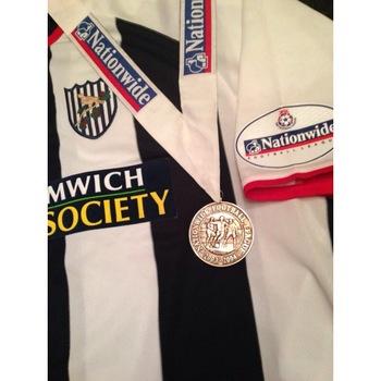 WBA Match Shirt and Medal 2003-04