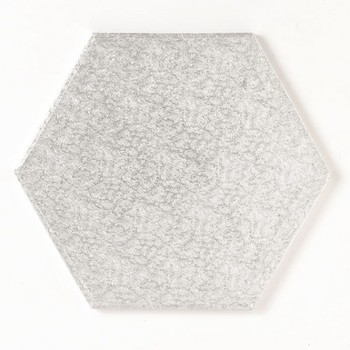 10″ Hexagonal Drum Board 254mm Double Thickness- Silver