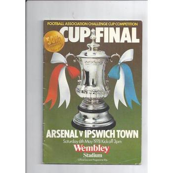 Arsenal v Ipswich Town FA Cup Final 1978