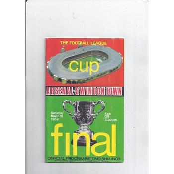Arsenal v Swindon Town League Cup Final 1969