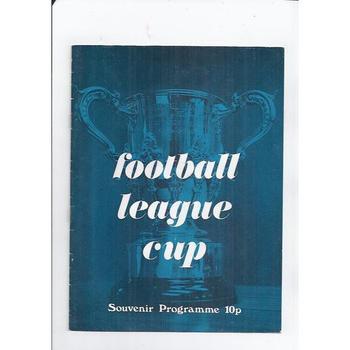 League Cup Souvenir Brochure 1974 - Blue Cover