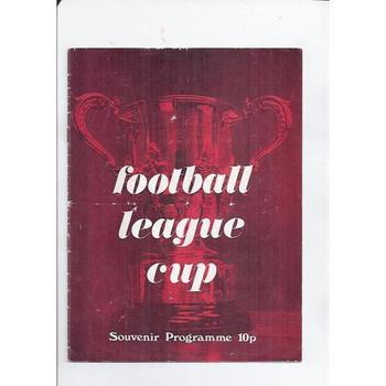 League Cup Souvenir Brochure 1974 - Red Cover
