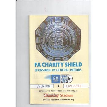 1984 Everton v Liverpool Charity Shield Football Programme