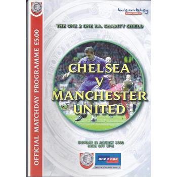 2000 Chelsea v Manchester United Charity Shield Football Programme