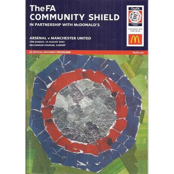 2003 Arsenal v Manchester United Charity Shield Football Programme