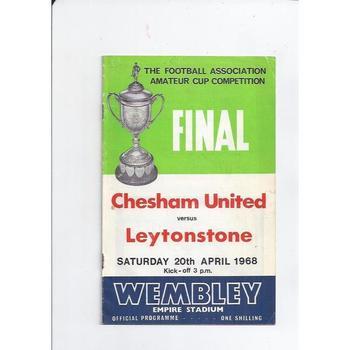 Chesham United v Leytonstone Amateur Cup Final 1968
