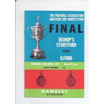 Bishops Stortford v Ilford FA Amateur Cup Final 1974