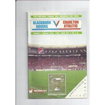 Blackburn Rovers v Charlton Athletic Full Members Cup Final 1987