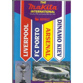 Makita Tournament Football Programme 1989 Arsenal, Liverpool, Porto & Kiev