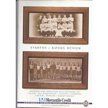 Everton v Barern Munich Mercantile Credit 1987