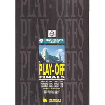 Play Off Finals All three Divisions 1990