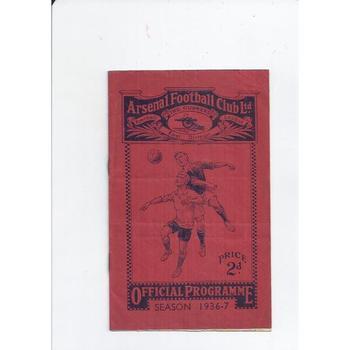 Arsenal v Huddersfield Town 1936/37