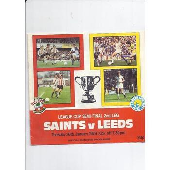 1978/79 Southampton v Leeds United League Cup Semi Final Football Programme