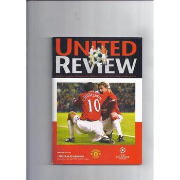 2001/02 Manchester United v Bayer Leverkusen Champions League Semi Final Football Programme