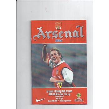 1999/00 Arsenal v Racing Club de Lens UEFA Cup Semi Final Football Programme