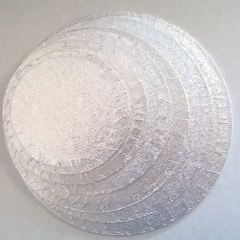 Single Thick Round Boards - Silver (various sizes avilable)