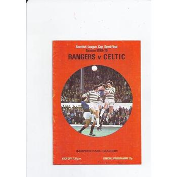 Rangers v Celtic Scottish League Cup Semi Final 1978/79