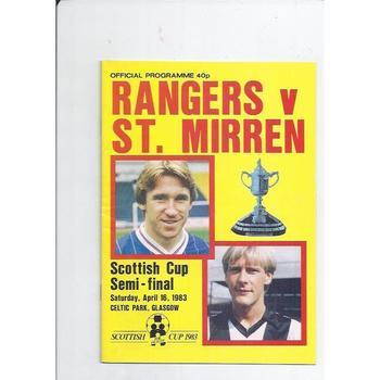 Rangers v St. Mirren Scottish Cup Semi Final 1982/83