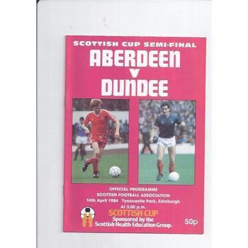 Aberdeen v Dundee Scottish Cup Semi Final 1983/84