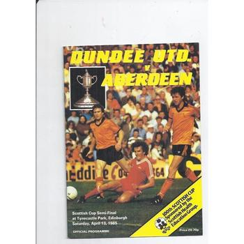 Dundee United v Aberdeen Scottish Cup Semi Final 1984/85