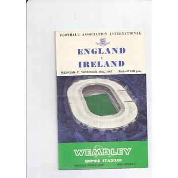 England v Ireland 1963