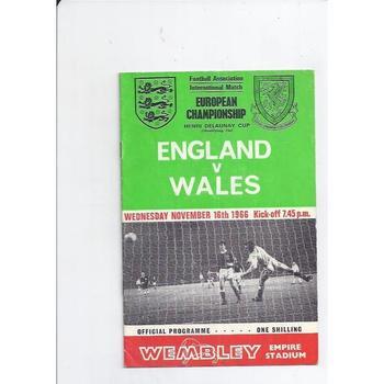 England v Wales 1966