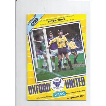 1987/88 Oxford United v Luton Town League Cup Semi Final Football Programme