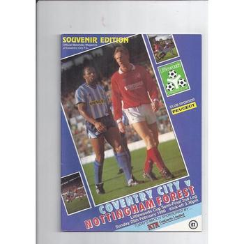 Coventry City v Nottingham Forest League Cup Semi Final 1989/90
