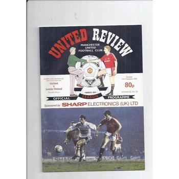 1990/91 Manchester United v Leeds United League Cup Semi Final Football Programme