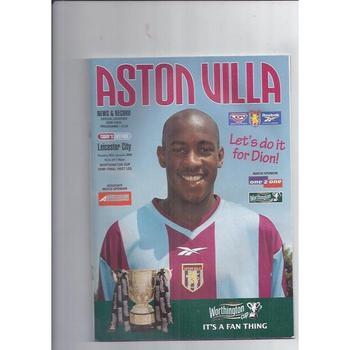 1999/00 Aston Villa v Leicester City League Cup Semi Final Football Programme