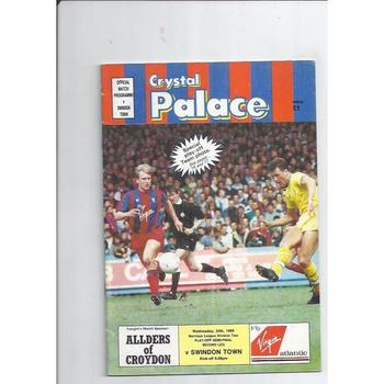 Crystal Palace v Swindon Town Play Off 1988/89