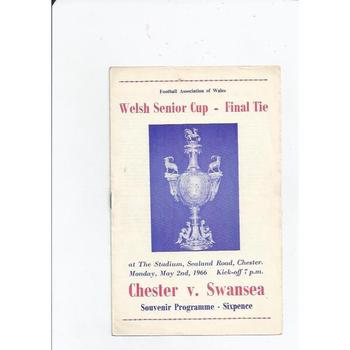 Chester v Swansea Welsh Cup Final 1965/66