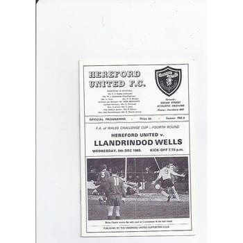 Hereford United v Llandrindod Wells Welsh Cup 1965/66