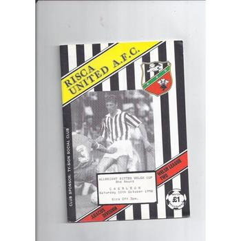 Welsh Cup Football Programmes All Rounds
