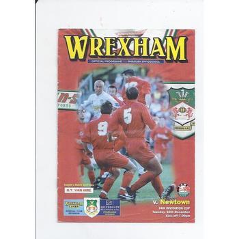 1997/98 Wrexham v Newtown Welsh Cup Football Programme