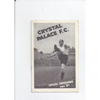 1946/47 Crystal Palace v Swindon Town Football Programme + Press cutting & Supporters Insert