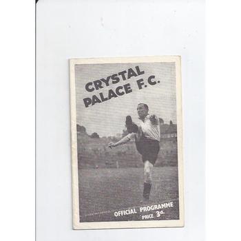 1946/47 Crystal Palace v Port Vale Football Programme