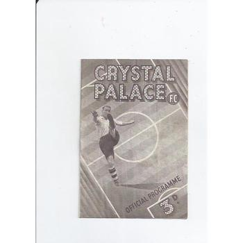 1947/48 Crystal Palace v Leyton Orient Football Programme