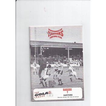 1984/85 Kidderminster Harriers v Dartford Football Programme